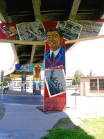 Ruben Salazar mural at Lincoln Park