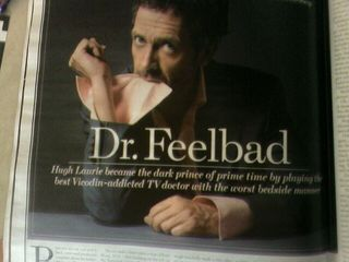 Hugh Laurie in the Rolling Stone